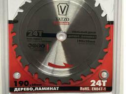 Пила дисковая Vatzo 254x30x60z по дереву и ламинату с...