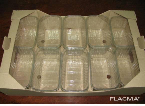 Пинетка 500г 1000г под гофро ящик для клубники малины