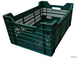 Пластиковый пищевой ящик для мяса, рыбы, овощей, фруктов