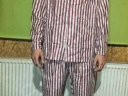 Пижама 100% Хлопок Полоса коричневая