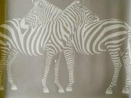 Плакаты на стену Greenpeace style дизайнерский Зебры Zebra 90 см х 70 см