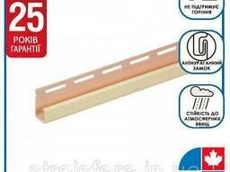 "Фасадная панель - Планка FaSiding ""J-trim"" ""Лён"" Т-15. 3.66м"