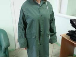 Плащ ПВХ непромокаемый, дождевик, мужской, женский, зеленый