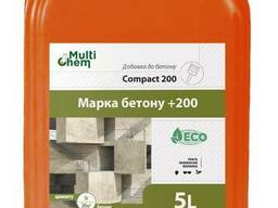 Пластификатор для вибропрессованных изделий Compact 200. Для увеличения прочности, 5 л
