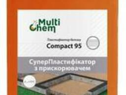 Пластификатор, ускоритель схватывания для бетона и гипса, тротуарной плитки Compact 95, 1л.