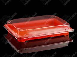 Пластиковая упаковка для суши и роллов С 25 PS Оранжевая. ..