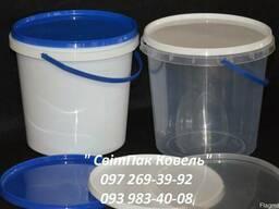 Пластикове відро харчове 1л. з ручкою