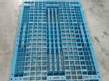 Пластиковый поддон 120*80 синий на полозьях (пищевой) - фото 2