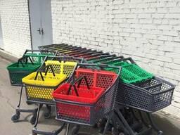 Пластиковые Элитные тележки 100 литрового объема