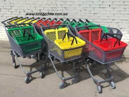 Пластиковые телеги для гипермаркетов 100 литров Испания