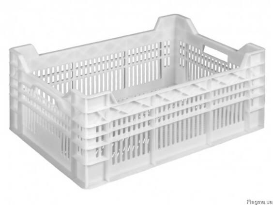 Пищевой пластиковый ящик для курицы 600 x 400 x 260 / 220