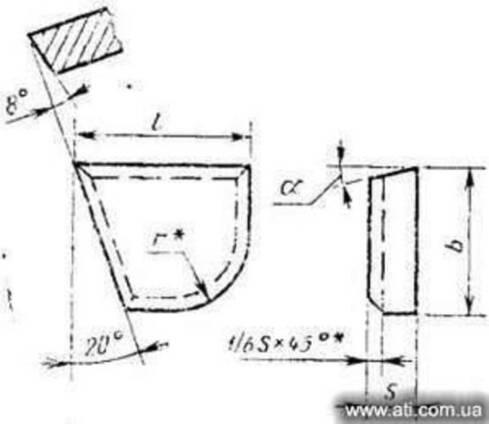 Пластина твердосплавная напаиваемая 06180 ВК8