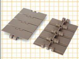 Пластинчатые ацеталовые транспортерные цепи 3,048м.
