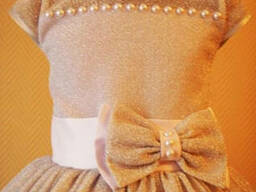 Платье детское нарядное Серебро