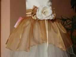 Платье нарядное детское Крем - брюле