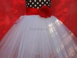 Платье нарядное детское Мини Маус с ушками