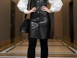Платье-сарафан женский кожа (42-48р , доставка по Украине