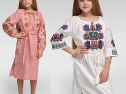 Платье вышиванка детская, вышитое платье для девочки
