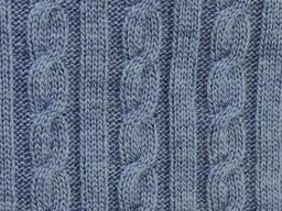 Плед Soft коси Синій меланж 220х240 SKL58-252221
