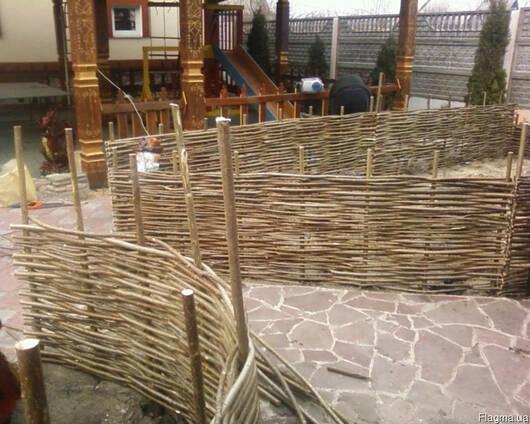 Плетень, Декоративный забор с Орешника(лещины)90грн м. кв.