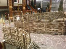 Плетень,Декоративный забор с Орешника(лещины)90грн м.кв.
