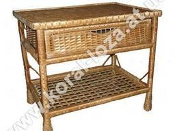 Плетеный Стол с шуфлядой 1248-34