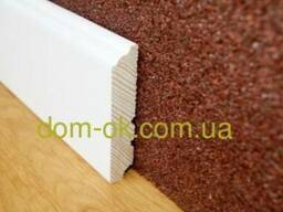Плинтус деревянный белый высокий ТИП 26* 120*16мм