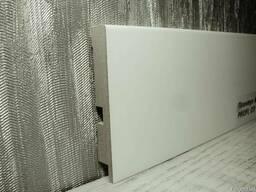Плинтус МДФ белый прямой 12х79х2800мм