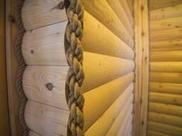 Джутовый плинтус потолочный 30мм