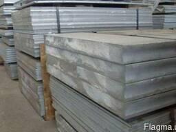 Плита алюминиевая из сплава АМГ5, толщина 12 мм, (1,52х3,02)