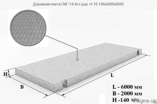 Плита дорожная ПАГ-14