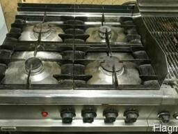 Плита газовая б/у с лавовым грилем профессиональная Zanussi - фото 3