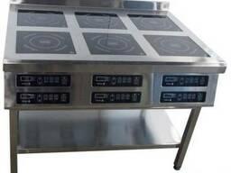 Плита индукционная 6-конфорочная Tehma 6х3, 5 кВт напольная