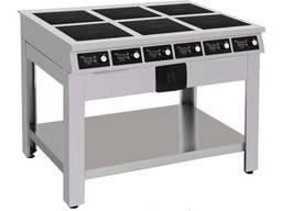 Плита индукционная 6-ти конфорочная для столовой и ресторана