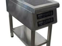 Плита индукционная двухконфорочная широкая 3, 5 3, 5 кВ Tehma T7