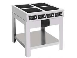 Плита индукционная 4 х 3.5 кВт профессиональная для общепита