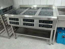 Плита индукционная шестиконфорочная 3, 5 3, 5 3, 5 3, 5 3, 5 3, 5 кВ широкая Tehma T13