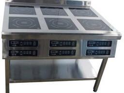 Плита индукционная шестиконфорочная Tehma 6х3, 5 кВт