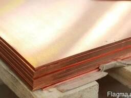 Медная плита толщиной до 120 мм