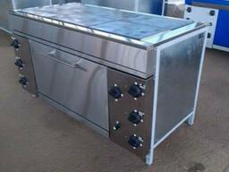 Профессиональная плита шестиконфорочная с духовкой