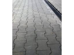 Плита тротуарная ФЕМ «Подвійне Т», серая, толщина 80мм