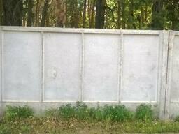 Плита заборная П5в и фундаменты к ней