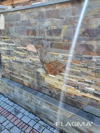 Плитка фасадная из натурального природного камня сланец