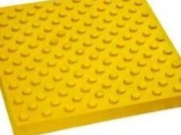Плитка тактильная бетонная желтая 30х30х6
