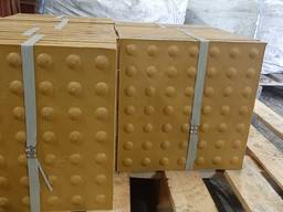 Плитка тактильная полимерпещанная 330х330х30 мм Конус