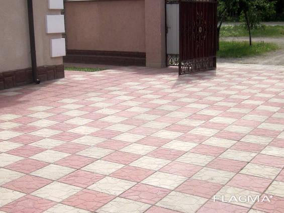 Плитка тротуарна 40х40, 30х30, бордюри