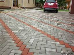"""Плитка тротуарная """"Кирпич"""" 60мм цветная"""