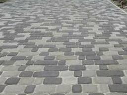 "Плитка тротуарная ""Старый город"" 60мм, цвет серый"