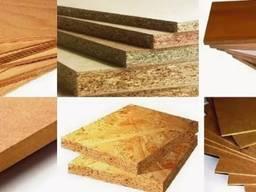 Плиты древесностружечные ДСП, плиты древесно-стружечные, древесно-волокнистые, плиты и фан