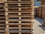 Поддон деревянный б/у 1200x800 , 1200x1000 (после ремонта) . - фото 1
